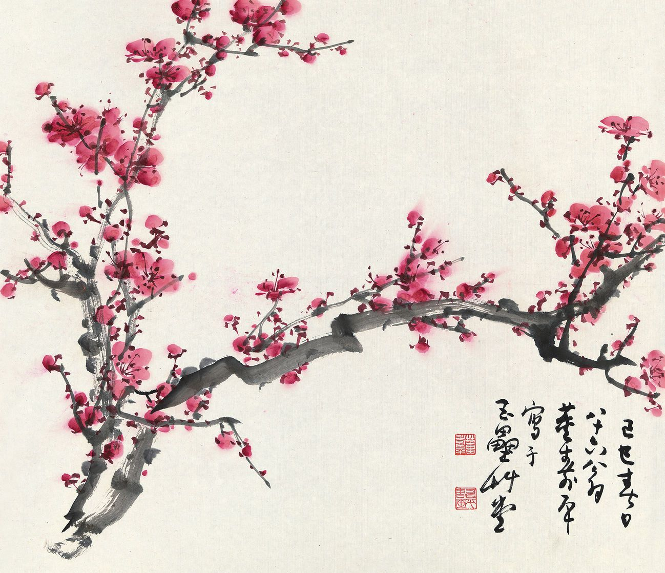 plum blossom artwork SUZHOU GALLERY Pinterest