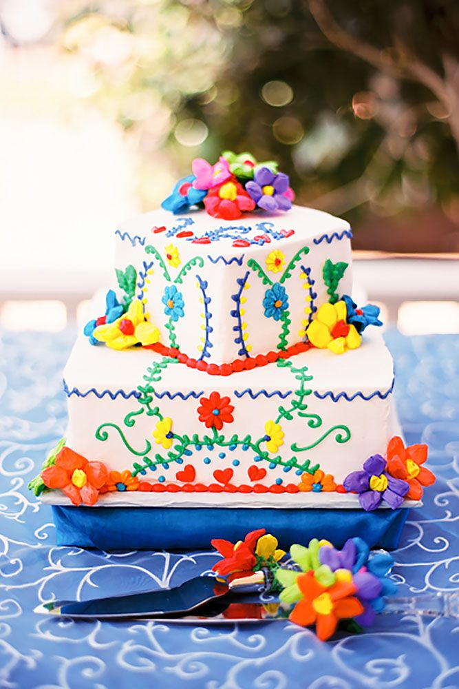 27 Exciting & Colourful Mexican Wedding Cake Ideas