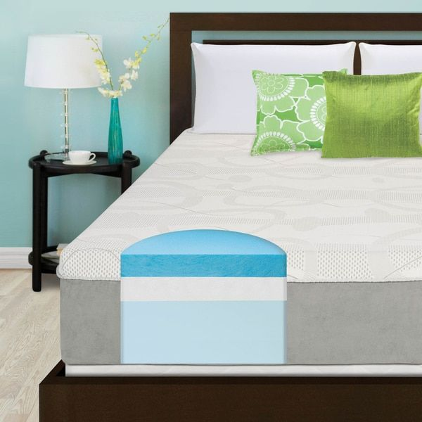 Slumber Solutions Choose Your Comfort 14 Inch Queen Size Gel Memory Foam Mattress