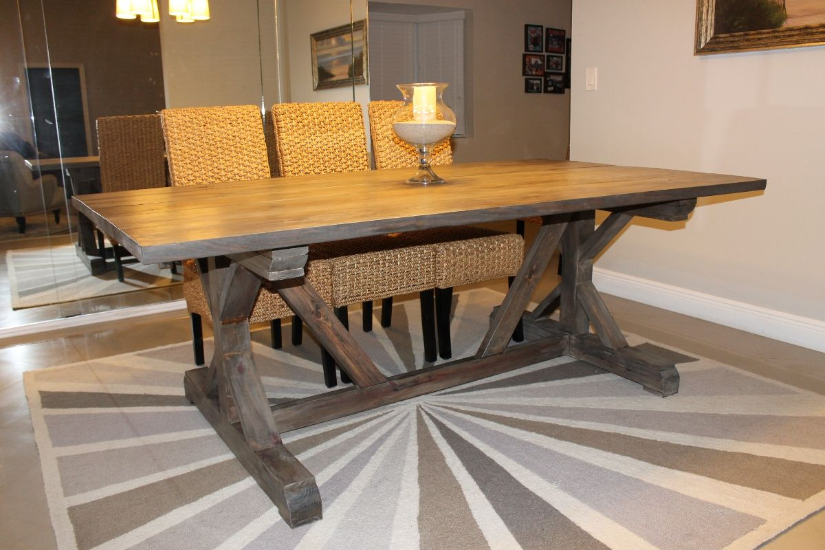 Xbase farmhouse table Farm Table Designs Pinterest