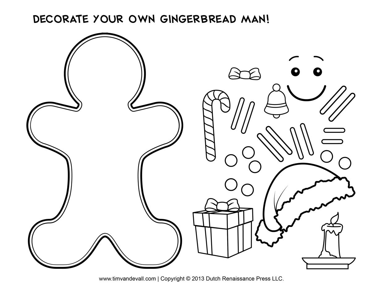 Fun Lesson Plan And Gingerbread Man Cutout Template For