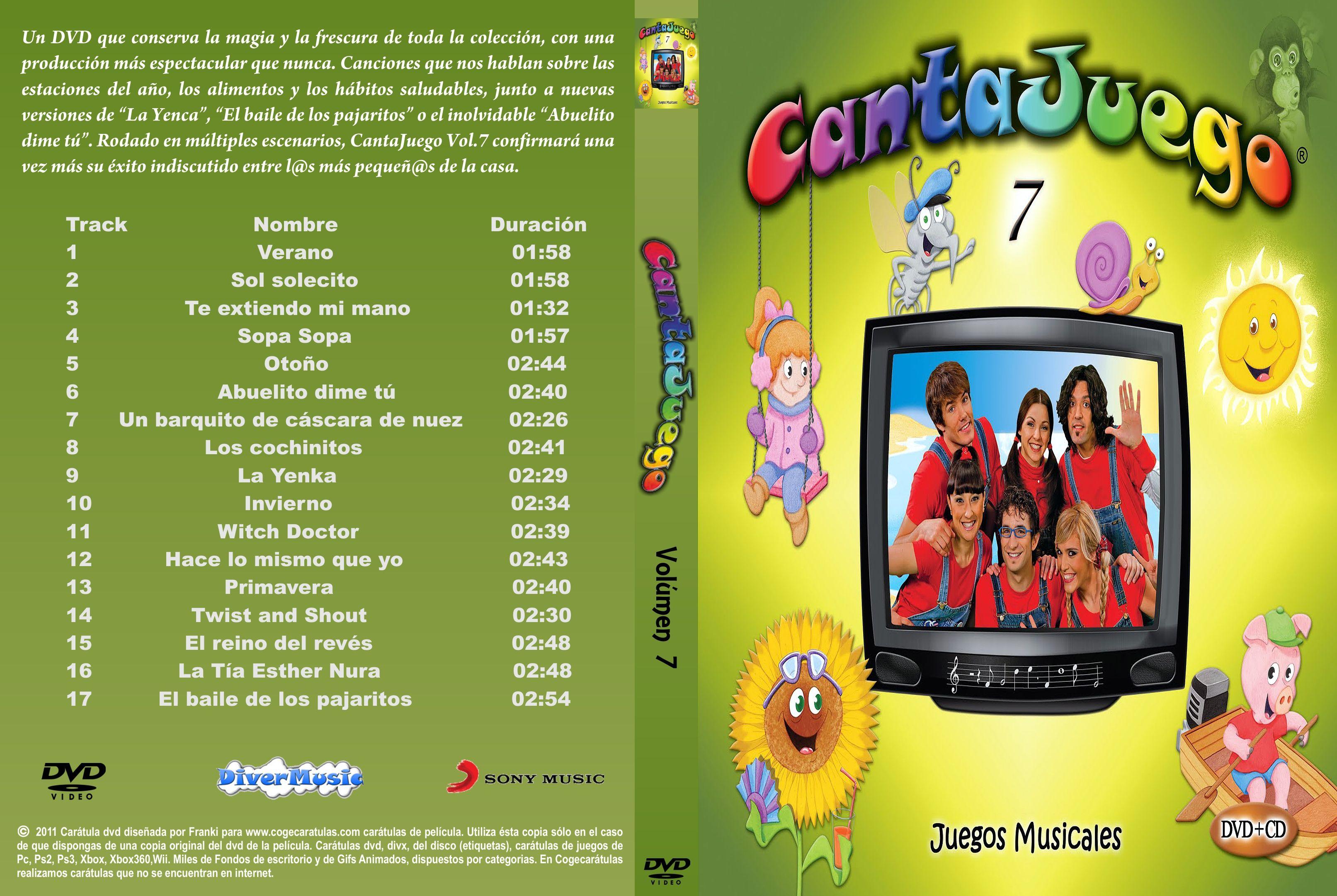 Caratula Cantajuegos Volumen 7