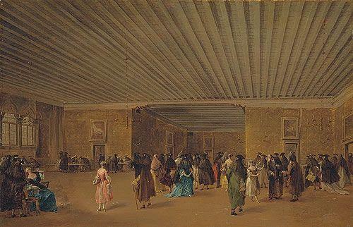 Изображение Il Ridotto на картине Франческо Гварди (1765 год):