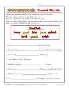 Onomatopoeia Sound Words