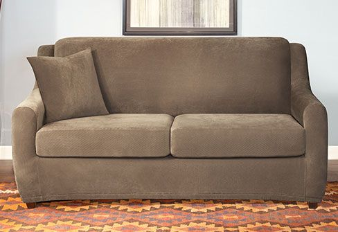 sure fit slipcovers stretch pique full sleeper sofa full