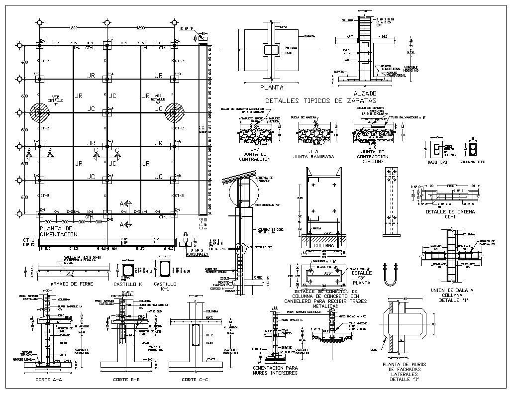 Foundation Details V1 Cad Design