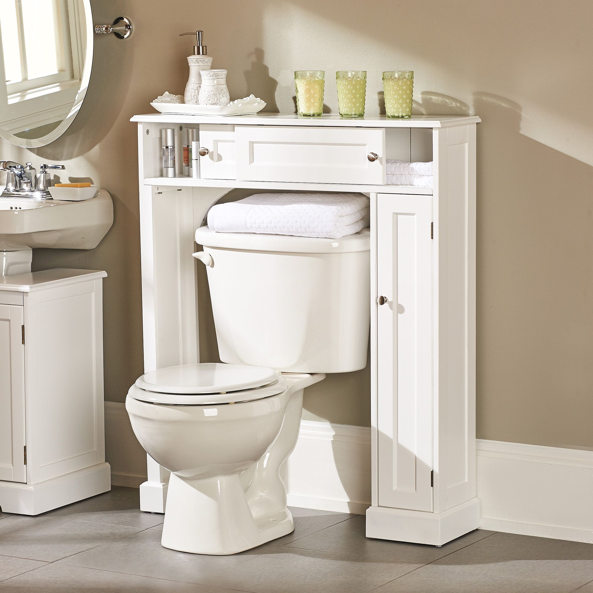Weatherby Bathroom Over The Toilet Storage Cabinet