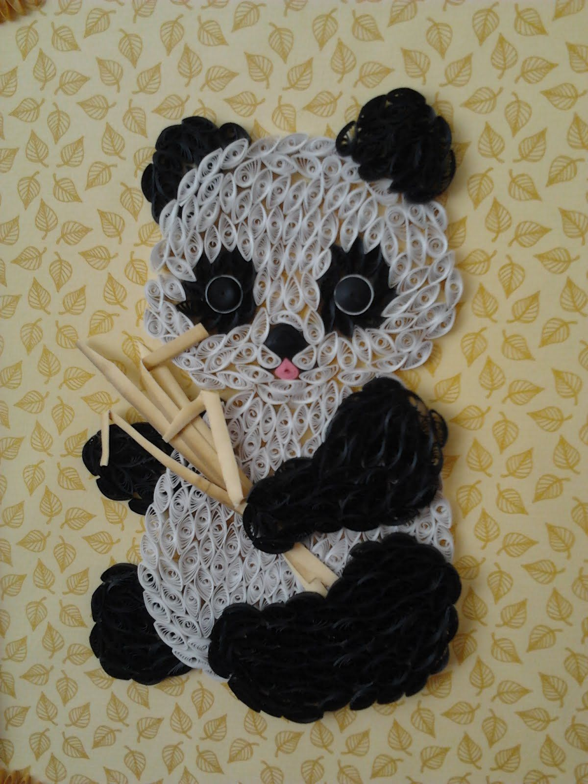 Panda, Quilling Creation by Baukje Quilling Paper