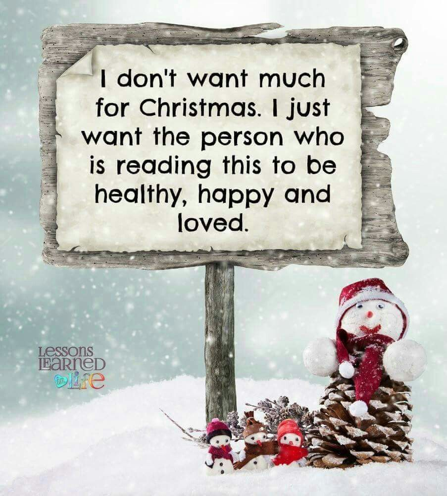 I don't want much for Christmas... Holidays Pinterest