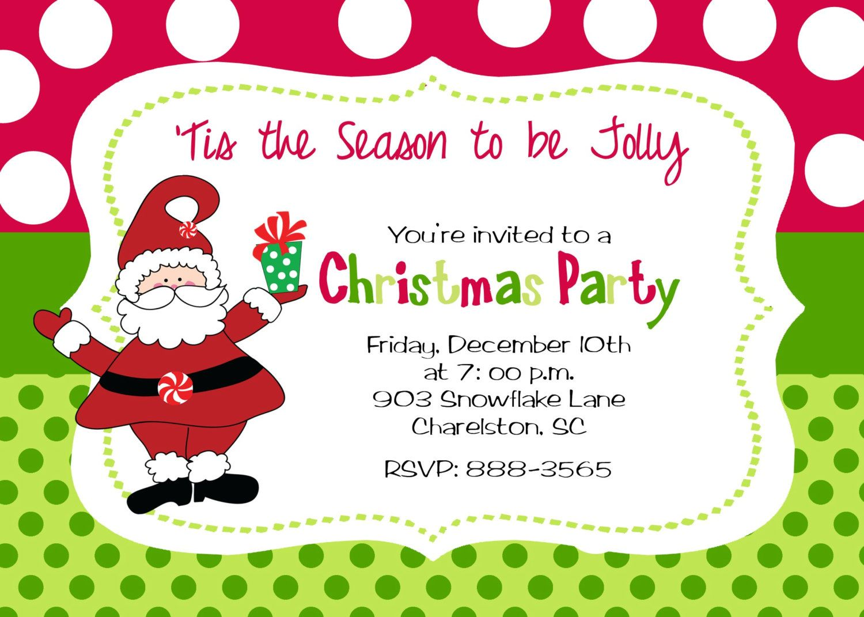 Christmas Party Invitation By Stickerchic On Etsy