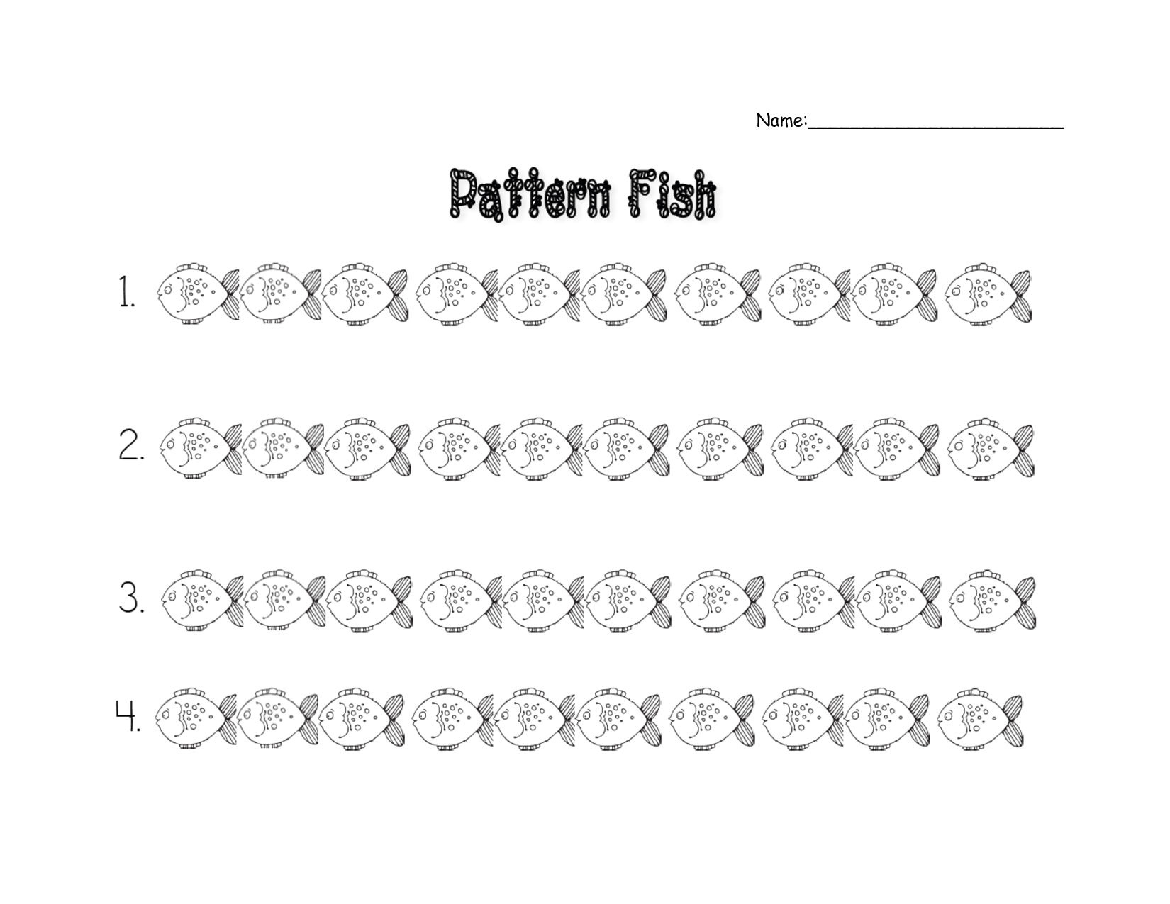 Fish Theme Worksheets