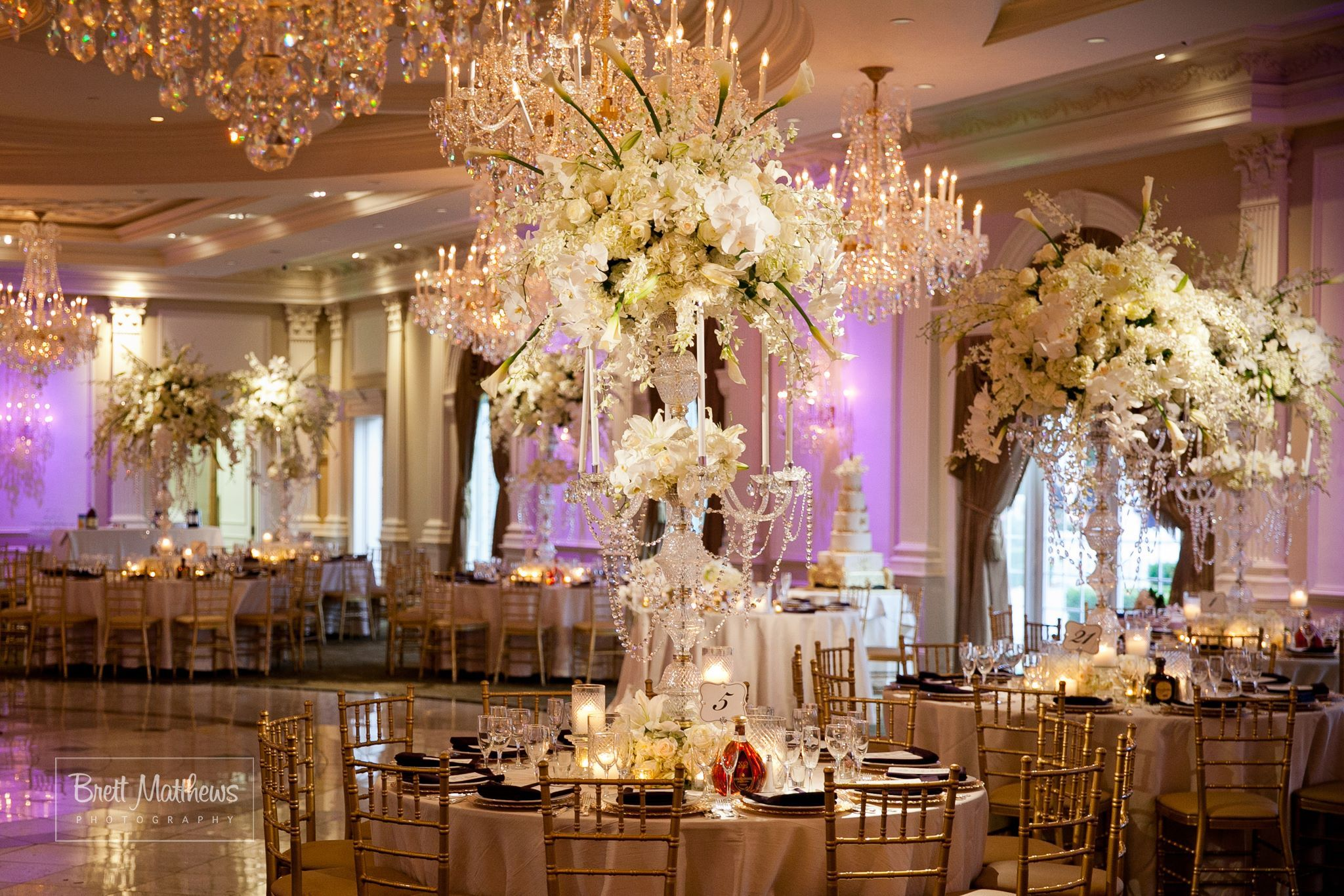 White Orchid Centerpieces By David Tutera