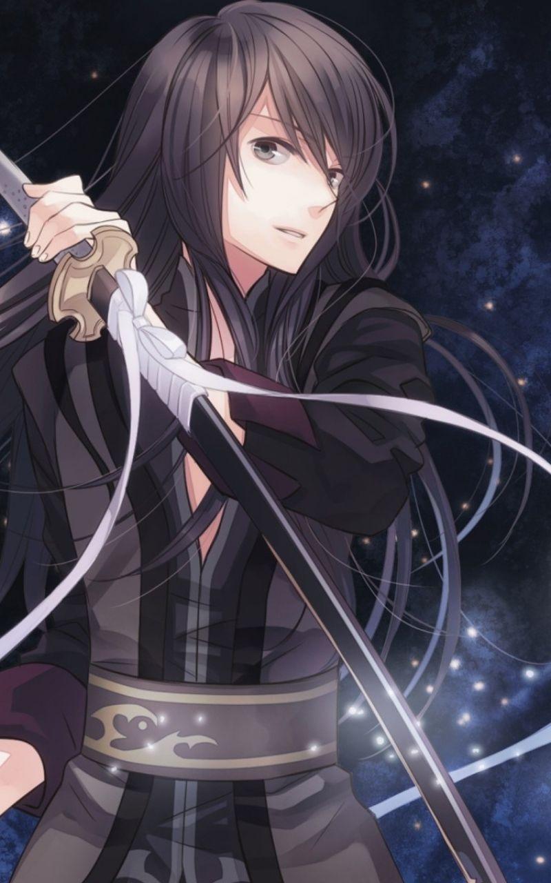 800x1280 Wallpaper anime, boy, kimonos, sword, a star