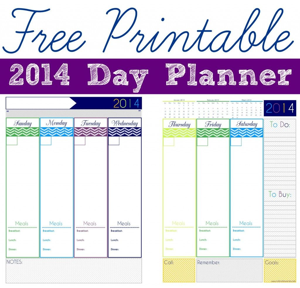 Freebie Friday Day Planner