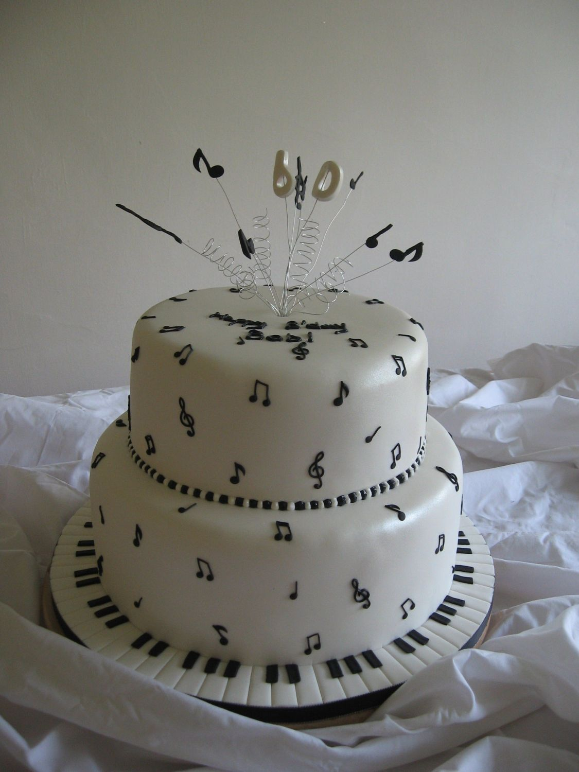 60th Music Themed cake. First, a big Thank You to