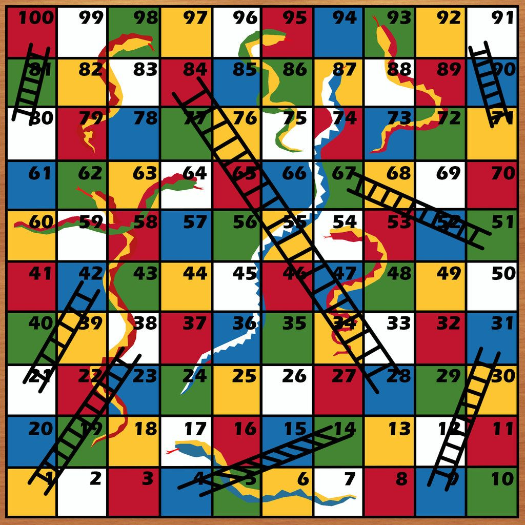 Snake And Ladder Games Template