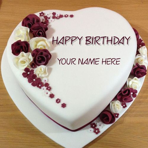 Happy Birthday Cake With Name Edit For Facebook Happy