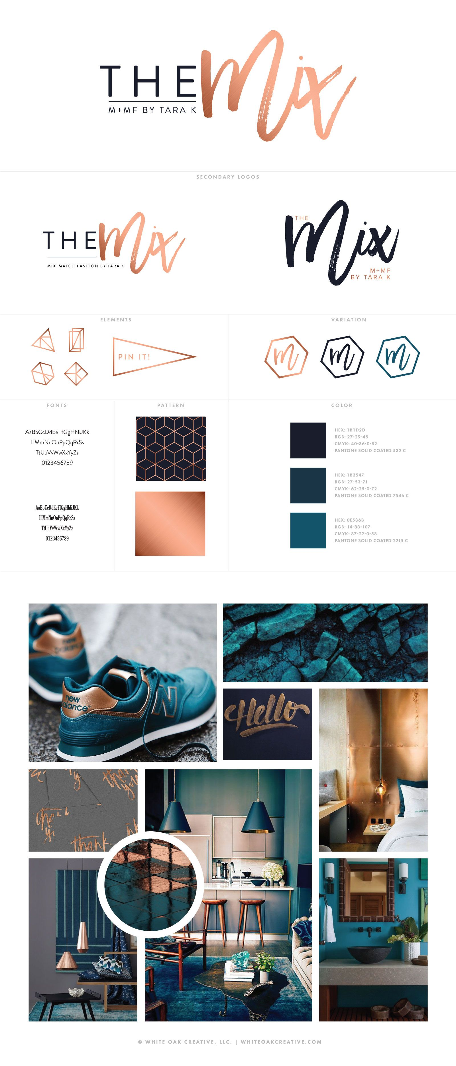The Mix By Tara K Brand Identity and Blog Design logo