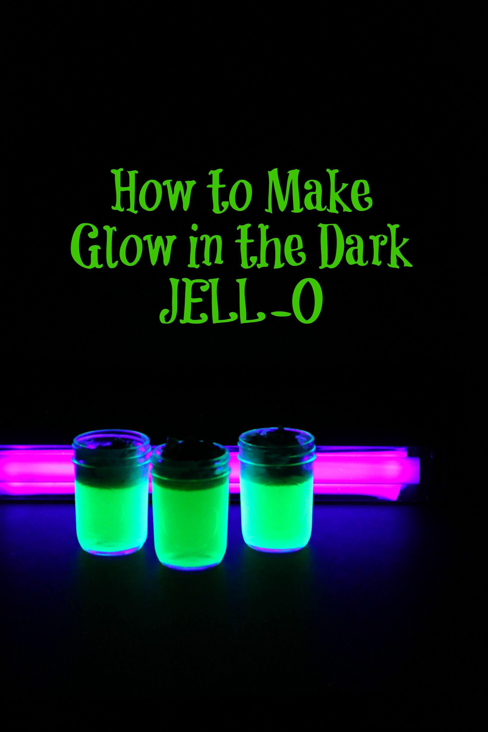 Glow in the Dark JELLO Recipe Girls magazine and Jello