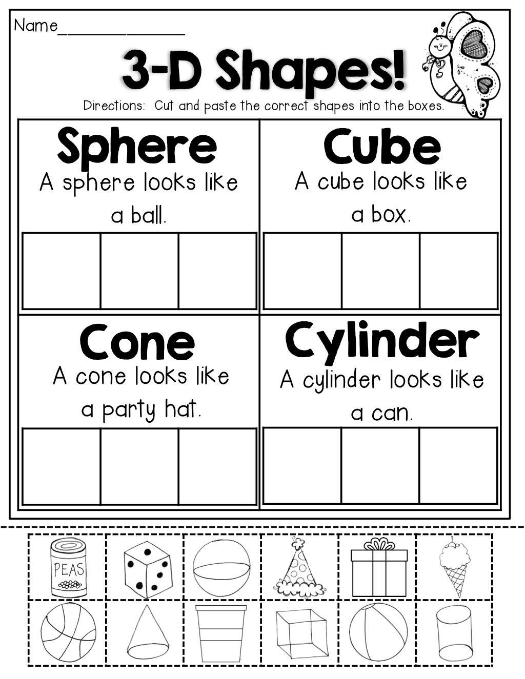 3 D Shapes Tons Of Great Printables That Hit Core Skills