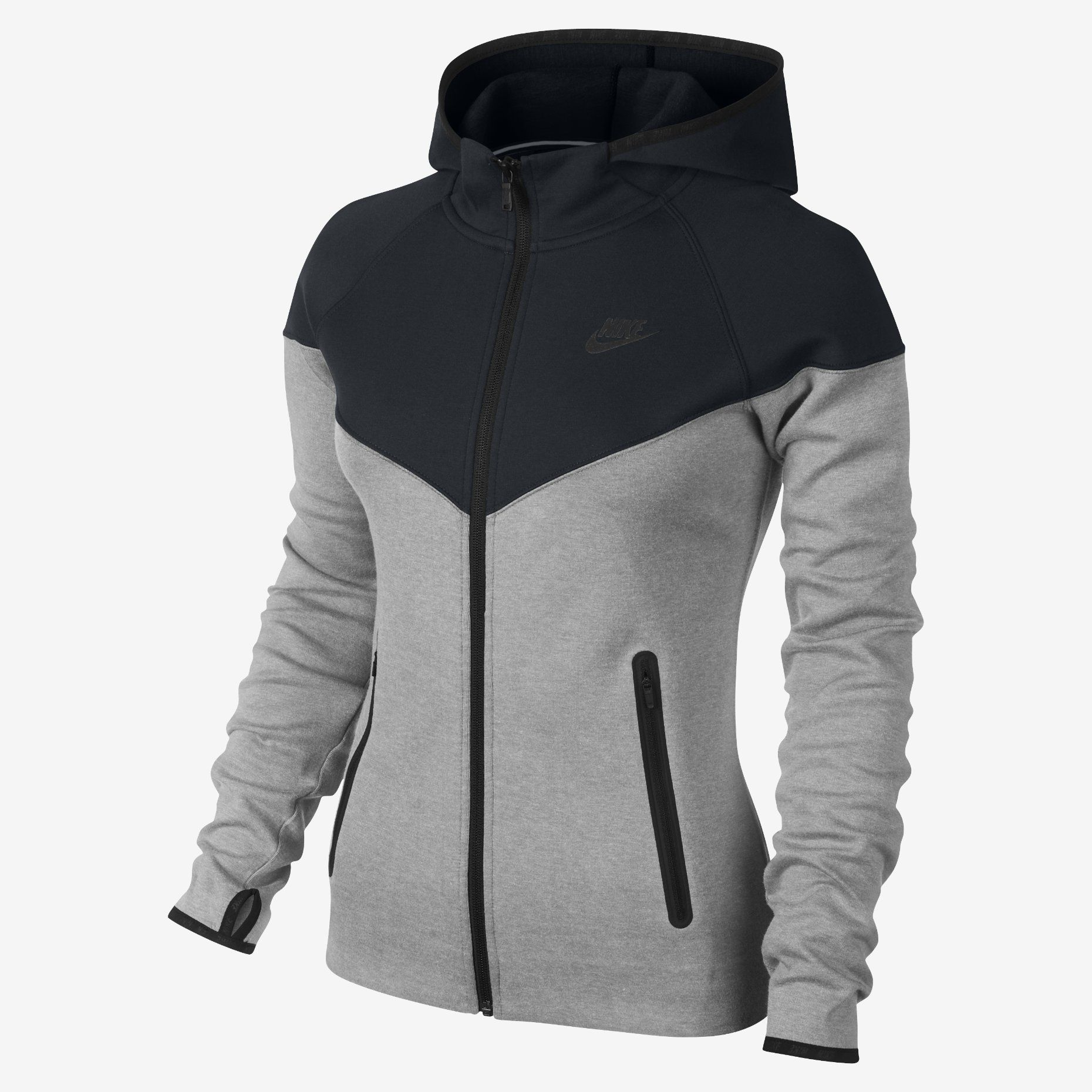 Nike Tech Fleece FullZip Women's Hoodie. Nike Store gym