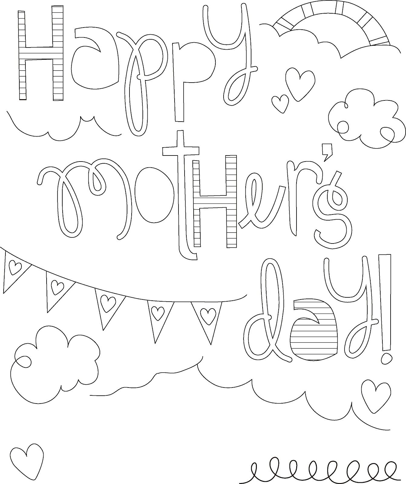 Here Is A Collection Of Some Mother S Day Coloring Pages