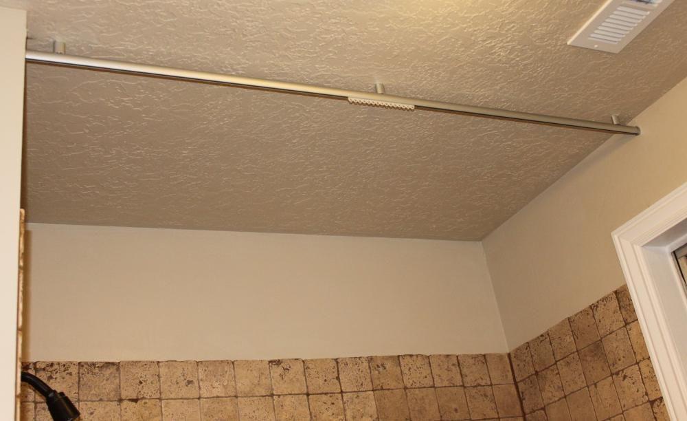 Ceiling Mounted Shower Curtain Rod Bathroom Pinterest
