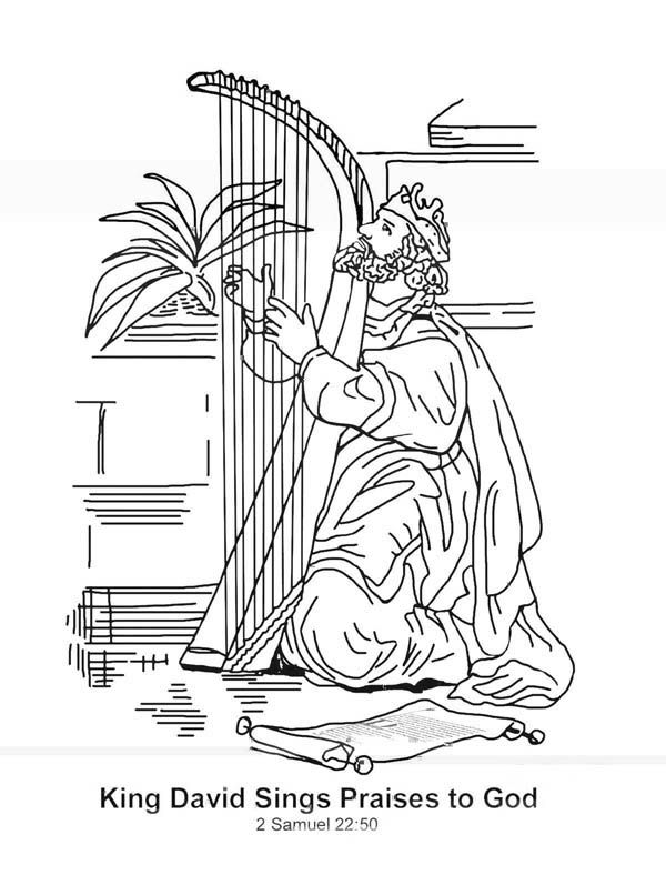 king david coloring pages and coloring on pinterest