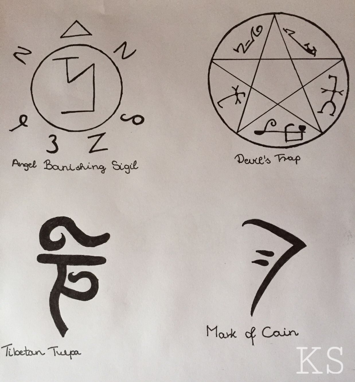 Supernatural symbols … drawings Pinterest