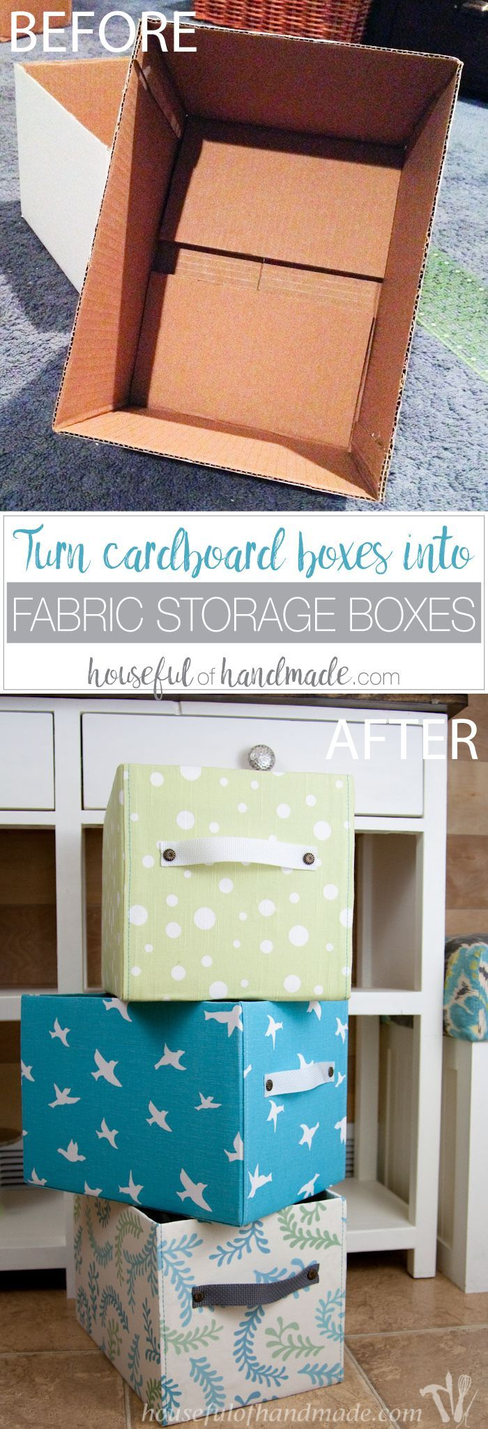 Easy DIY Fabric Storage Boxes Fabric storage boxes