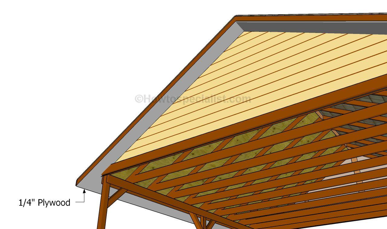 Installing the soffit Wooden Carport Plans Pinterest
