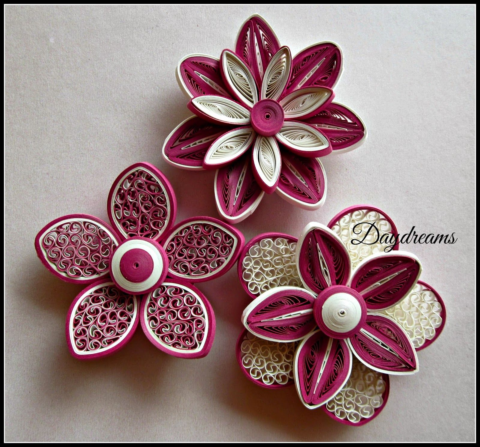 DAYDREAMS For my love for Quilled flowers Quilling