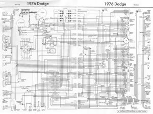 1976 Dodge Truck Wiring Diagram | truck | Pinterest