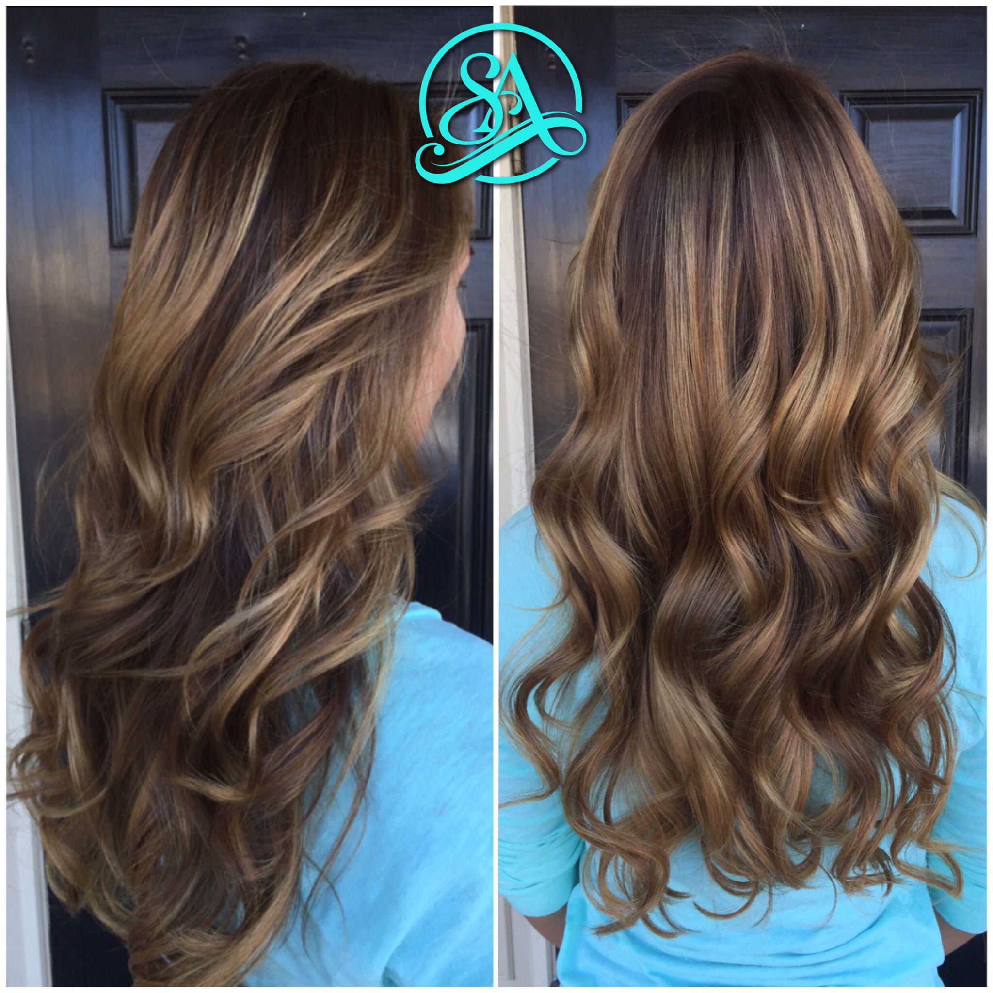 Chocolate Blonde Balayage Greenville Hair Salon Fusion