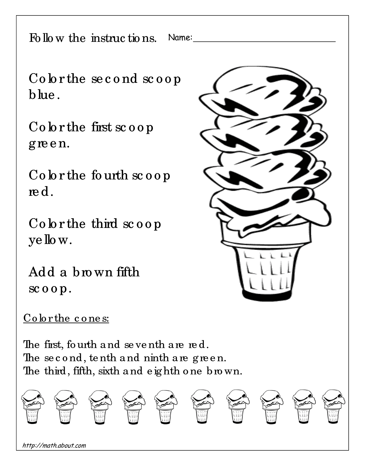 Math Worksheets For 3rd Graders