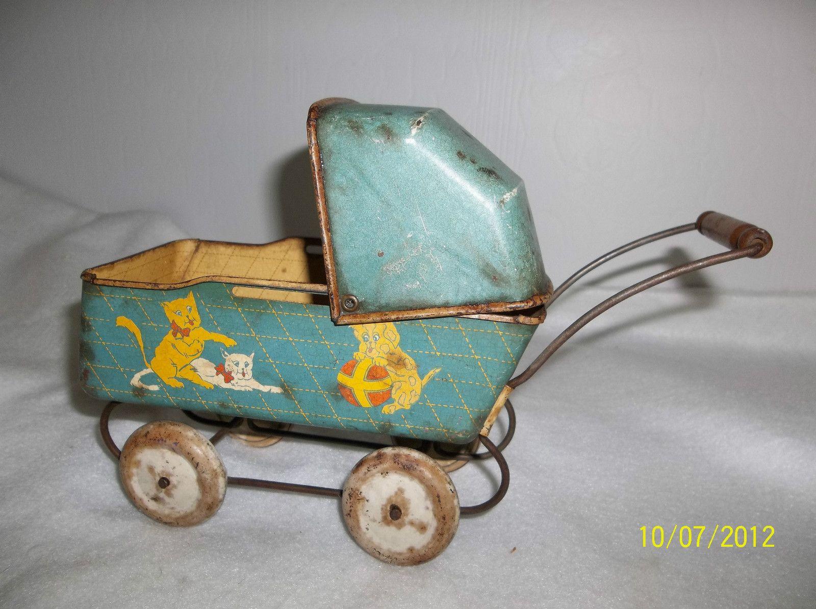 Vintage Tin Litho dolly Pram vintage toys Pinterest
