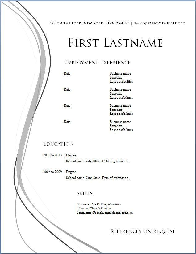 best resume samples in word format resume format best resume