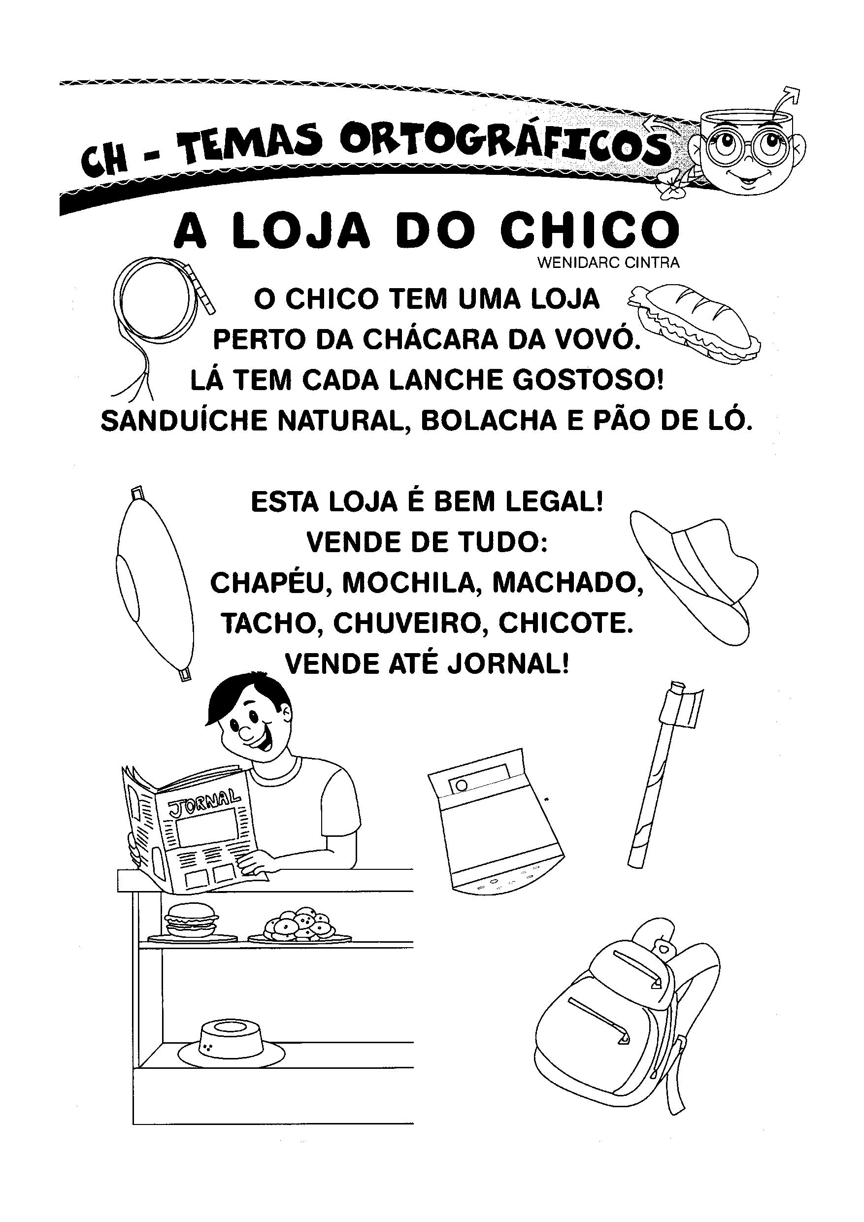 Texto Letra H A Loja Do Chico