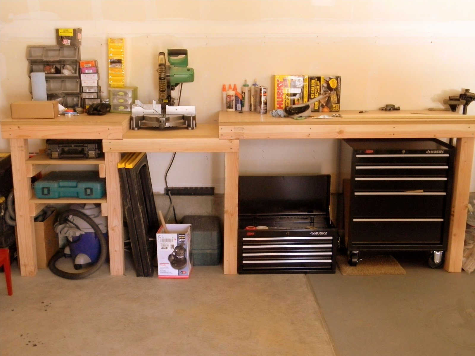 Garage Workbench Plans Yard, Workshed, and Garage