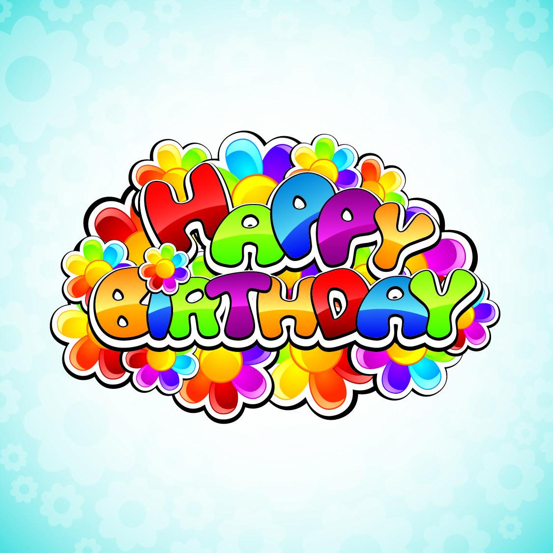vector cute cartoon happy birthday http//69hdwallpapers