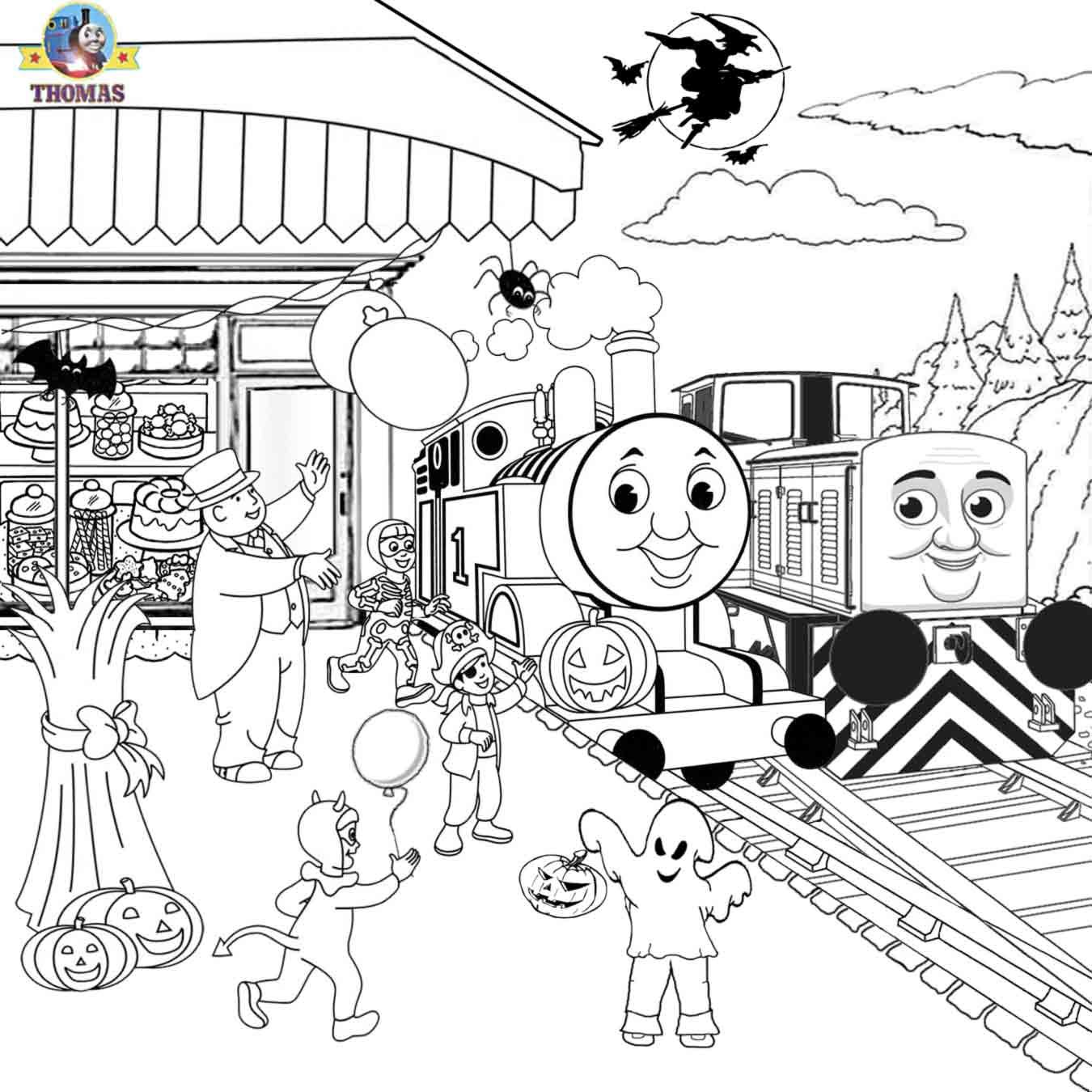Sel Den Thomas The Train Coloring Pages Free Printables Halloween Activities For Kids To