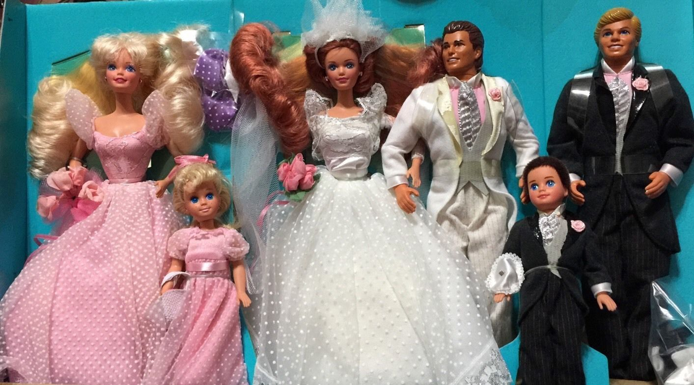 Details about Midge Wedding Party Gift Set Barbie, Kelly