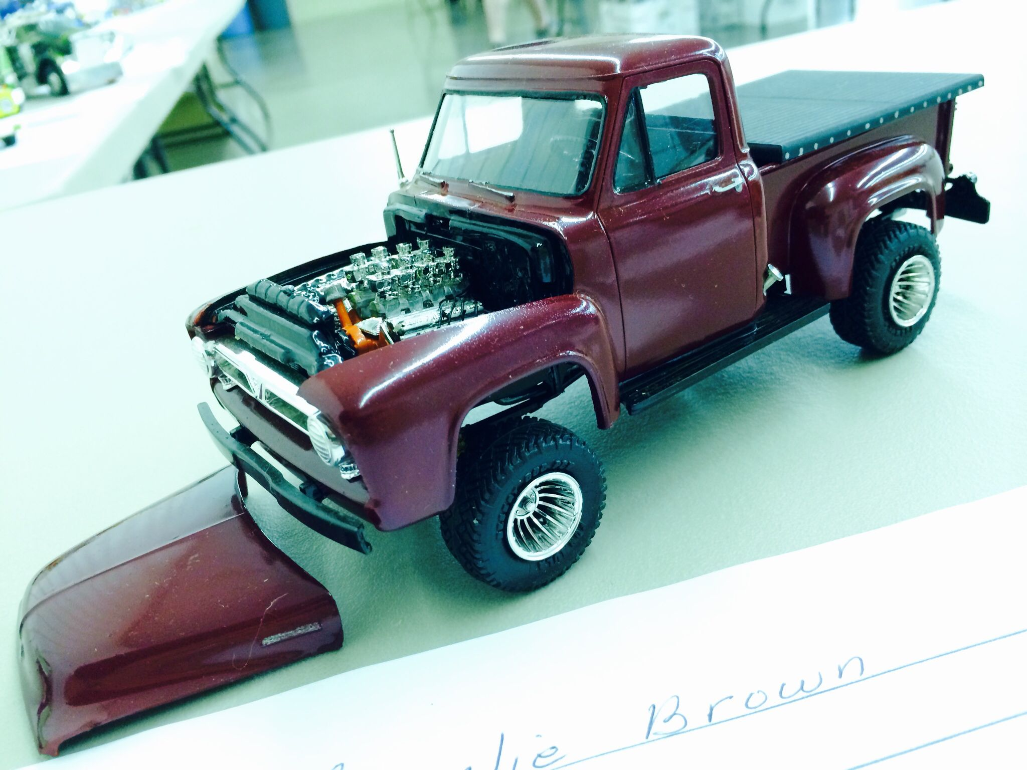 1953 Ford Pickup scale model by Charlie Brown Toys