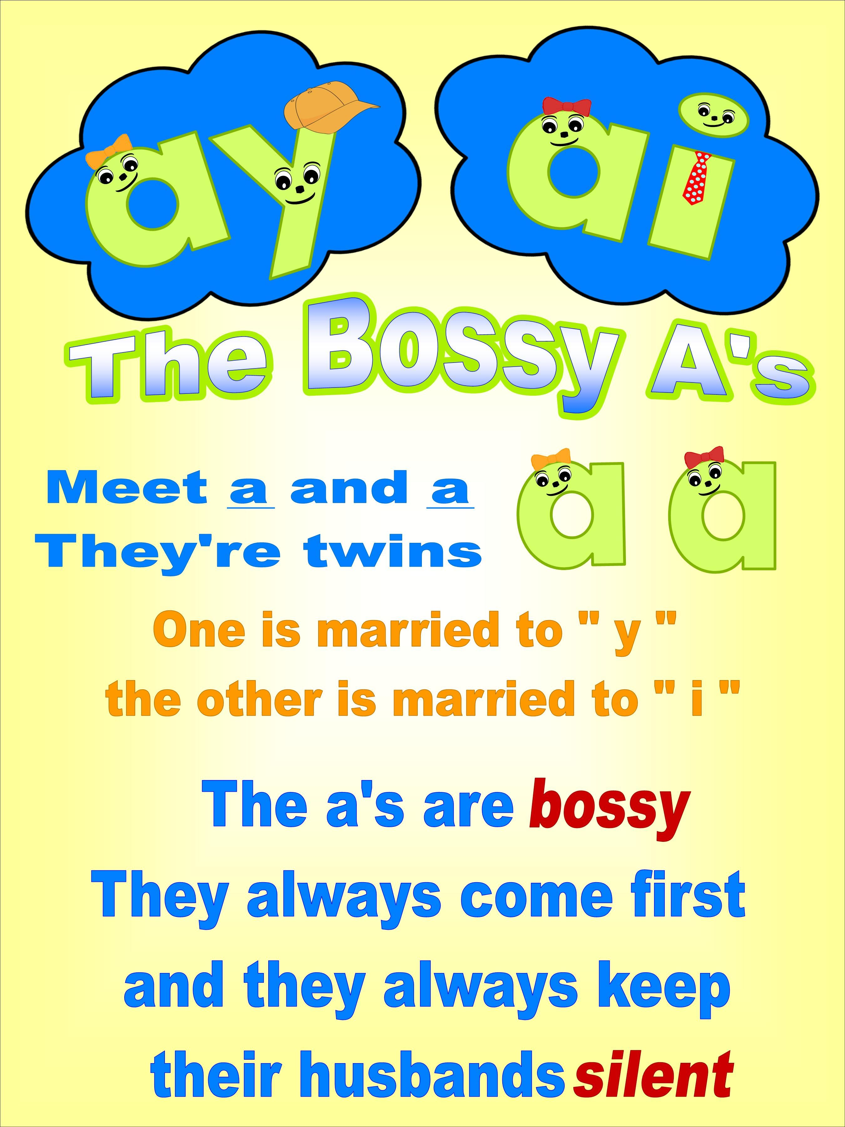 The Bossy A S Ai And Ay Order Rule
