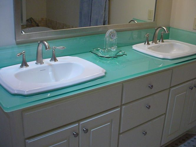 Frosted Gl Countertop - BSTCountertops on