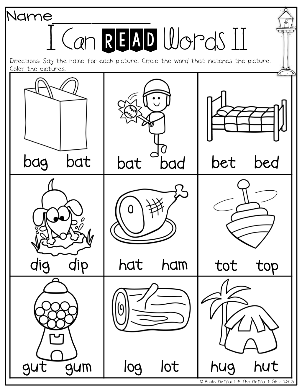 I Can Read Words Simple Cvc Words To Help Beginning Readers The First 2 Letters Are The Same