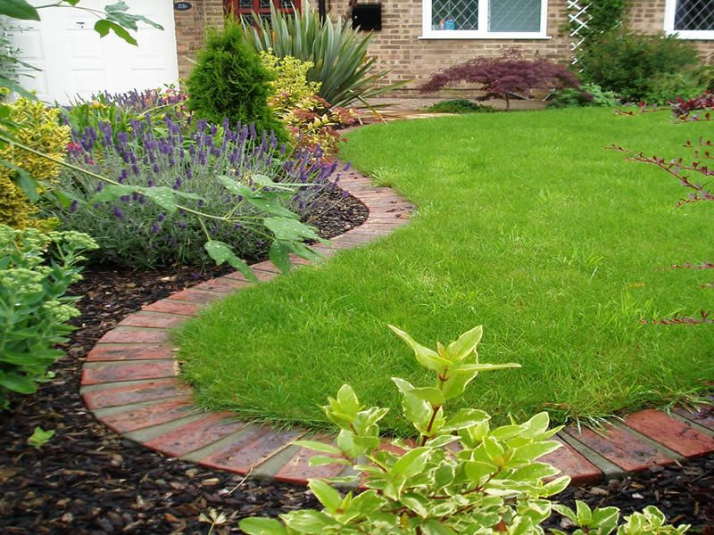 Creating Flower Bed Border Ideas For Your Lawn Brick