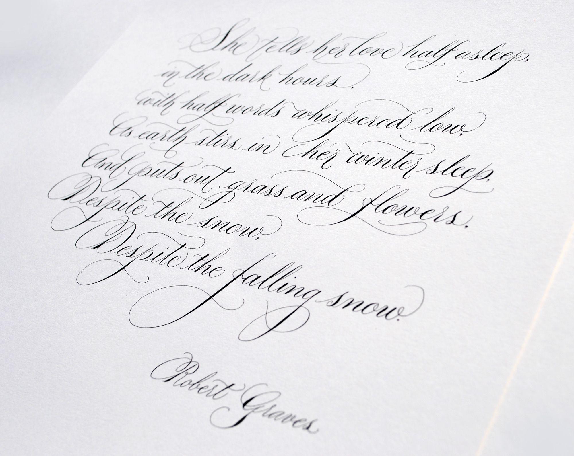 Handwritten Calligraphy Poem