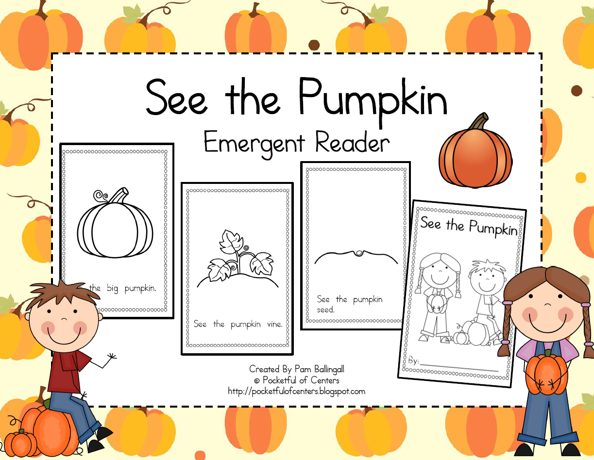 See The Pumpkin Emergent Reader Free Repinned By Sos Inc Resources Pinterest Sostherapy