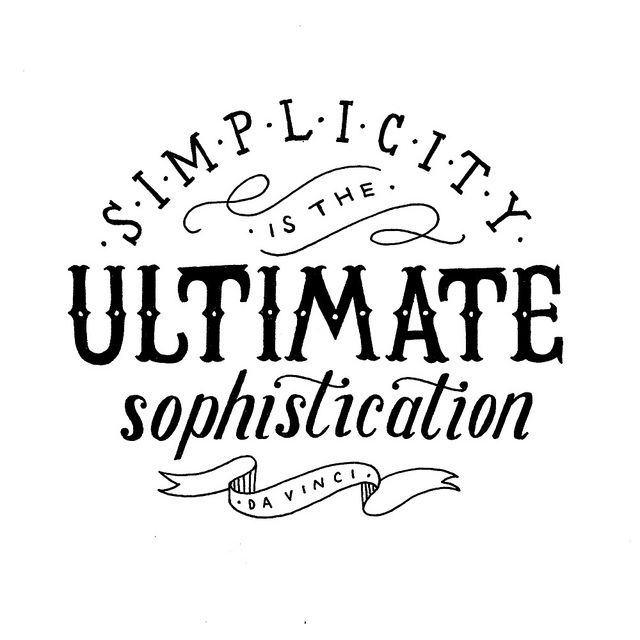 Simplicity is the ultimate sophistication   Flickr – Photo Sharing!